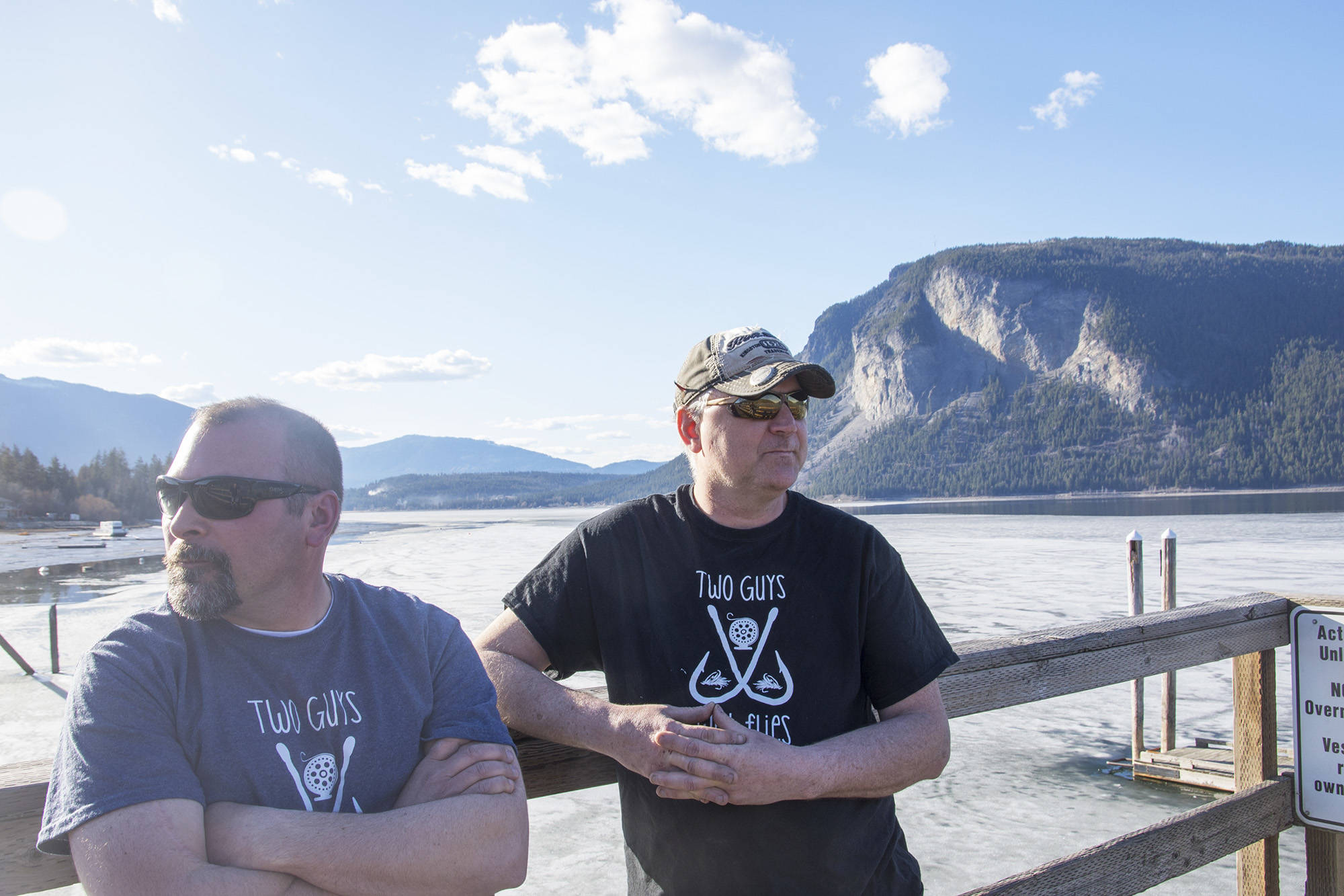 Brodie Blair and Les Loren think they spotted Legendary Lake Monster Shuswaggi while out on a fishing trip. ( Jim Elliot/Salmon Arm Observer)