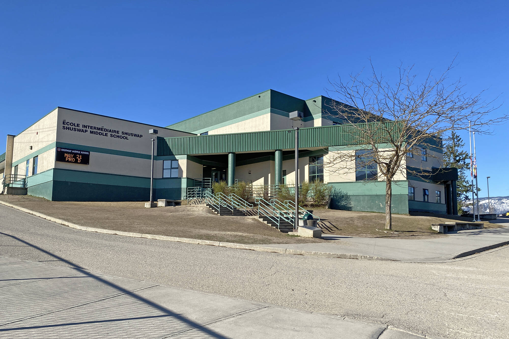 Shuswap Middle School had potential COVID-19 exposure events on Oct. 12 and 13, 2021. (Lachlan Labere-Salmon Arm Observer)